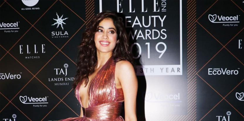 Janhvi Kapoor stuns in a high slit metallic gown in latest look