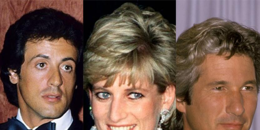 Richard Gere, Sylvester Stallone Once Got Into a Fist Fight Over Princess Diana