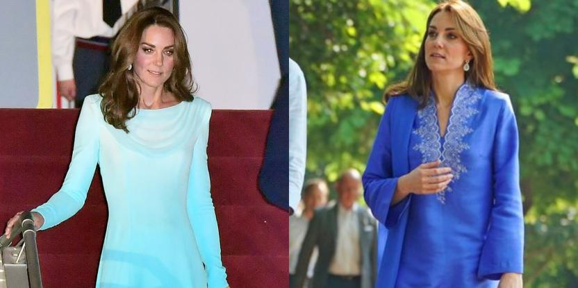 Kate Middleton Is Taking Our Blues Away In Two Looks From The Pakistan Visit