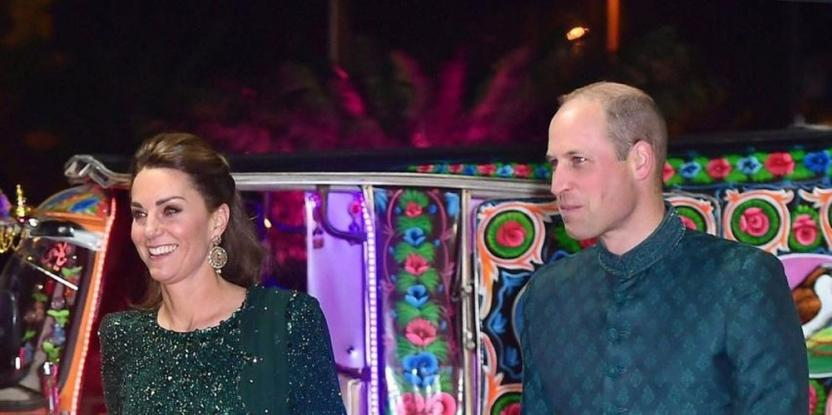 Kate Middleton and Prince William in Pakistan: The Duke and Duchess Arrive For Reception in a Rikshaw