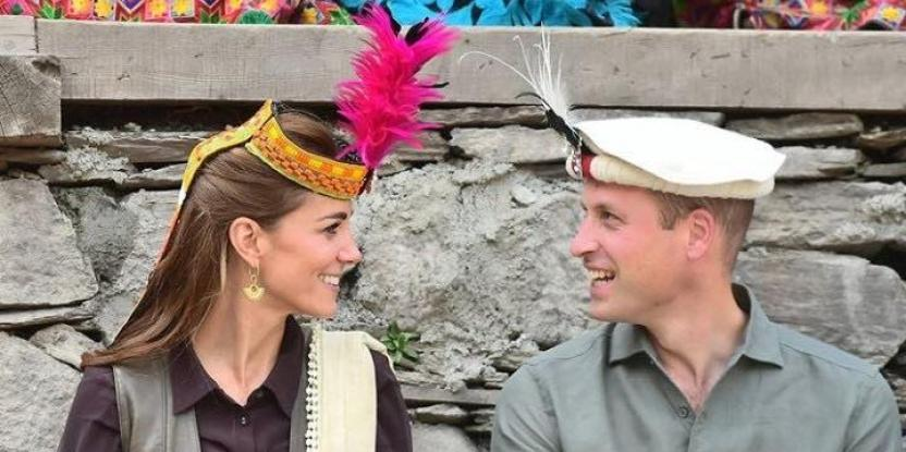 Prince William and Kate Middleton in Pakistan: The Royal Couple Smiles at Each Other While Wearing the Kalasha Headgears
