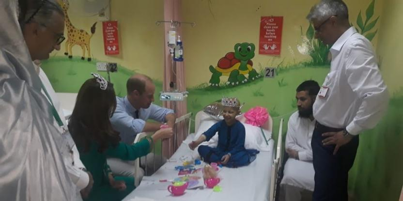 Prince William and Kate Middleton in Pakistan: The Duchess Wears a Toy Tiara with a Cancer Patient While Attending Her Tea Party