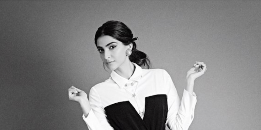 Sonam Kapoor Wearing a Chic Shirt Dress Is a Total Mood