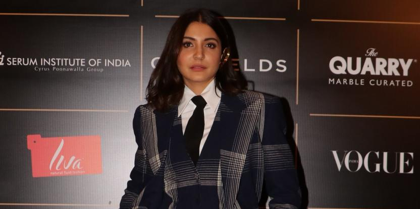Anushka Sharma Exudes Boss Lady Vibes In Plaid Jumpsuit And Blazer Combo