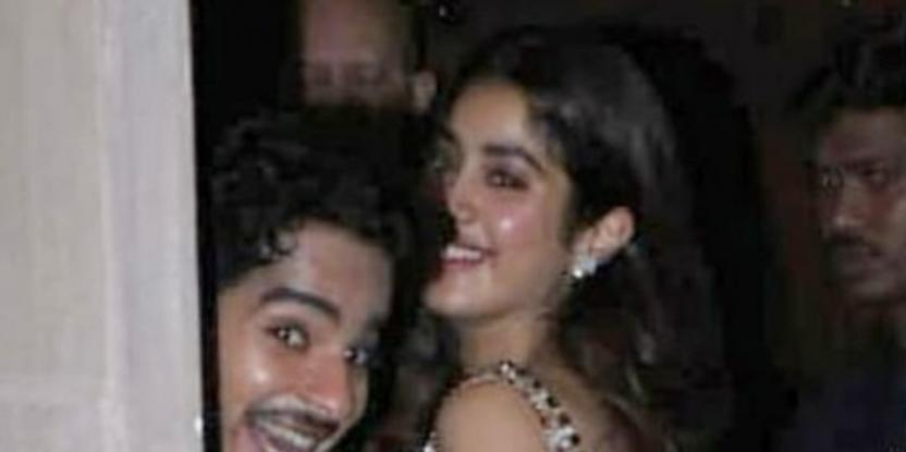Janhvi Kapoor, Ishaan Khatter Caught In A Candid Moment at Diwali Bash