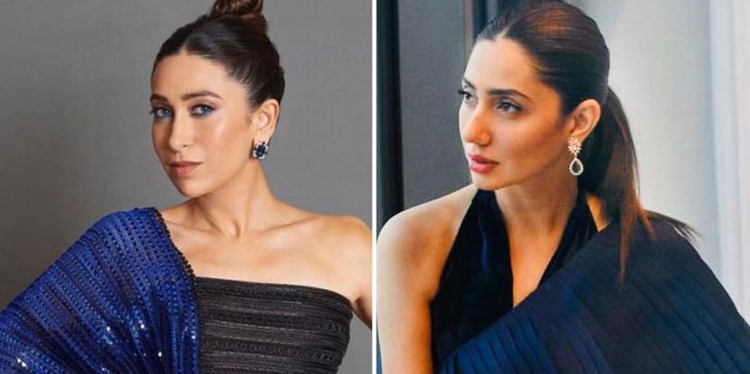 Mahira Khan or Karisma Kapoor: Who Wore Blue and Black Sari Better?
