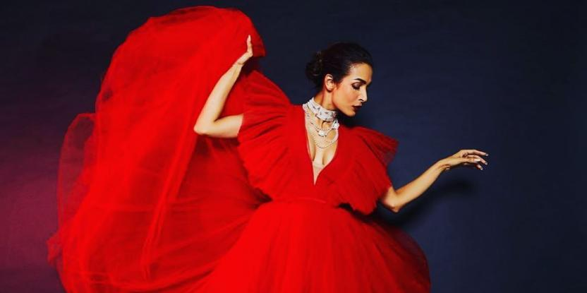 Malaika Arora looks fierce in red tulle dress