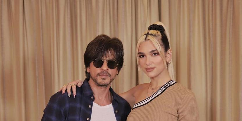 Dua Lipa Learns Bollywood Dance Moves from Shah Rukh Khan