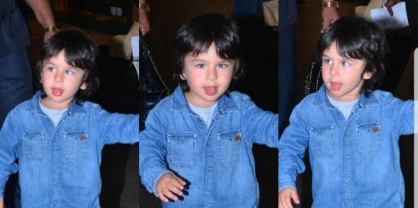 Taimur Ali Khan's Airport Style Game Stays Strong with Denim on Denim Look