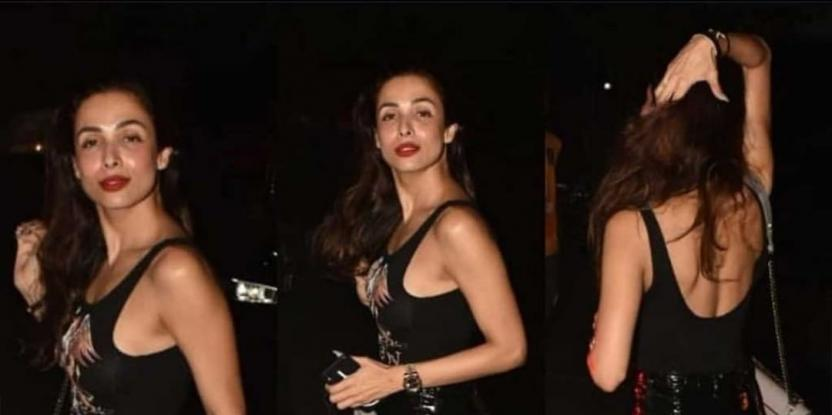 Malaika Arora Sports an Edgy All-Black Look for Night Out