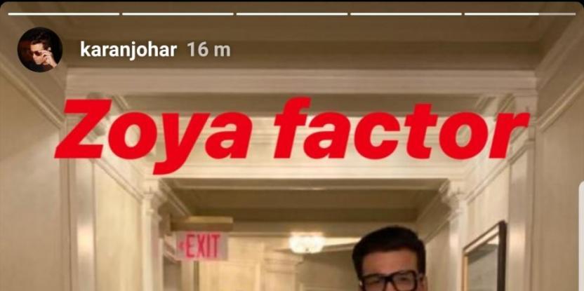 Karan Johar poses with Zoya Akhtar in New York, Calling it Zoya Factor