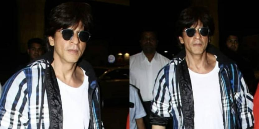 Shah Rukh Khan Sports A Casual Look As He Jets Off To Unknown Destination