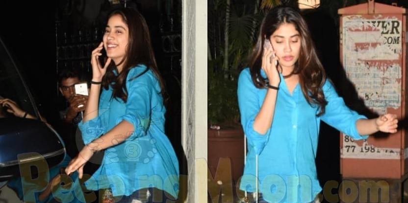 Janhvi Kapoor Sports Casual Attire As She Leaves Arjun Kapoor's Residence