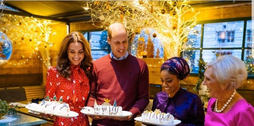 Prince William and Kate Middleton Cook a Feast for the Volunteers and Workers
