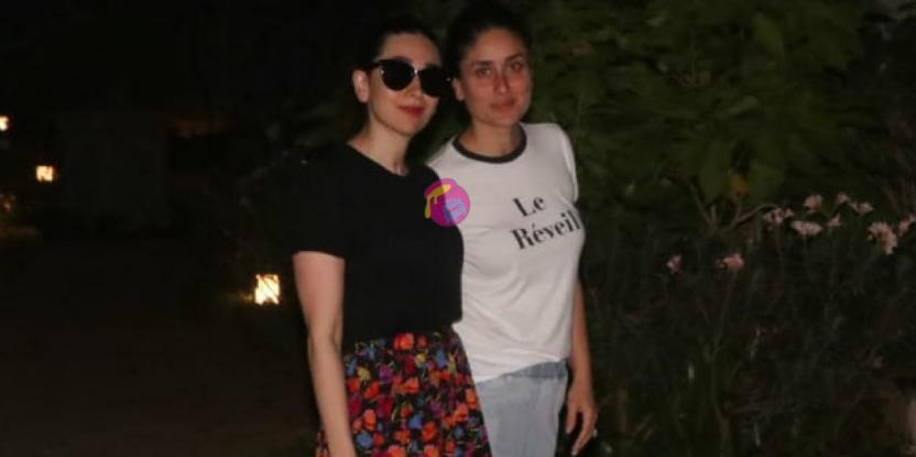 Kareena, Karisma Kapoor are All Smiles as they Step Out in the City