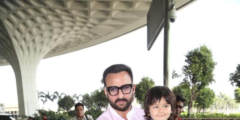 Taimur Ali Khan Spotted at the Airport with Dad Saif Ali Khan