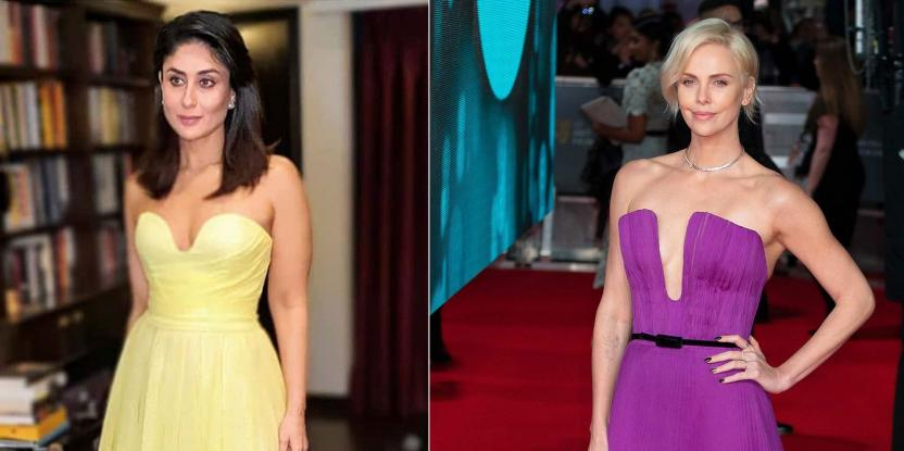 Fashion Face-Off: Kareena Kapoor, Charlize Theron Rock a Plunging Neckline