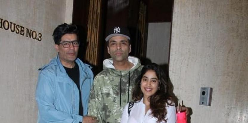 Janhvi Kapoor, Karan Johar Sport Casual Looks for the Evening