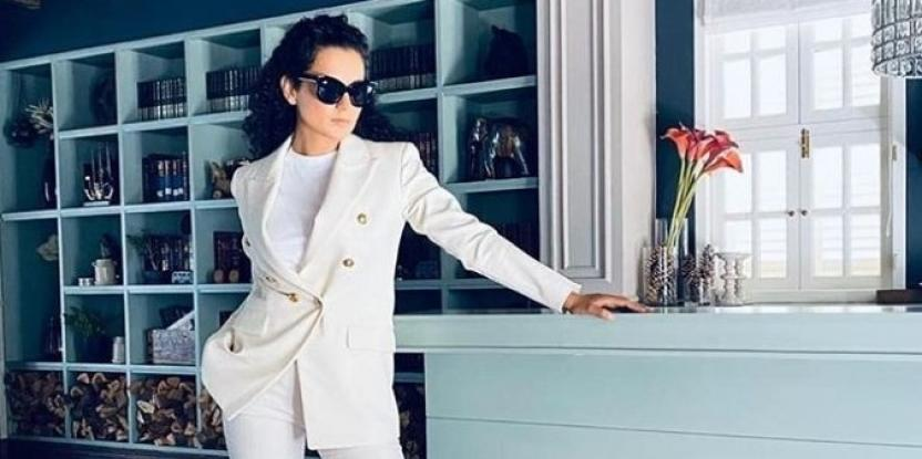 Kangana Ranaut looks effortlessly chic in a white suit at virtual Cannes Film Festival