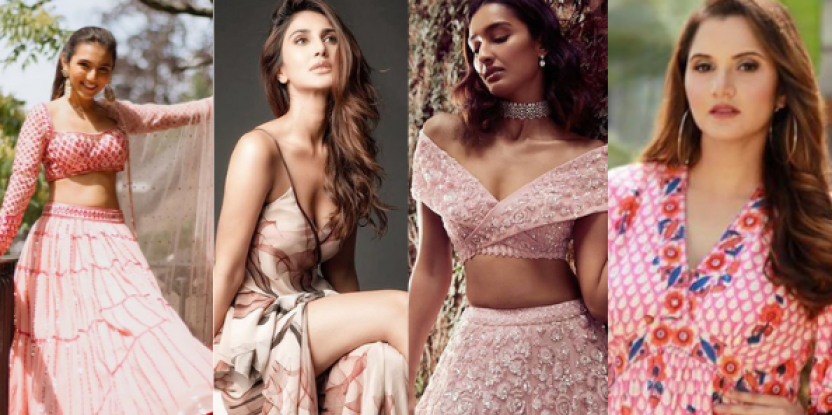 Light pink is colour of the summer and these celebrity Instagram snaps prove it