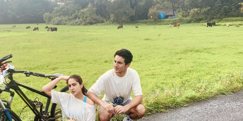 Sara Ali Khan shares pictures of her enjoying sibling time with her brother after Rakhi celebrations