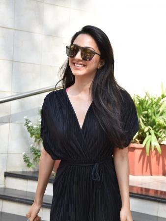 Kiara Advani Steps Out in a Black Jumpsuit